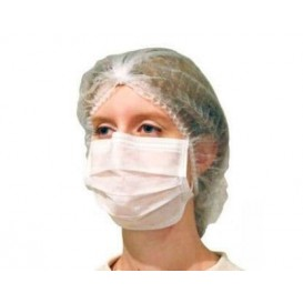 "Disposable Surgical Mask Rectangular Shape ""TST"" White 2C (50 Units)"