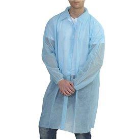 Disposable Lab Coat Visitor Guest TST PP Velcro Blue XL (10 Units)