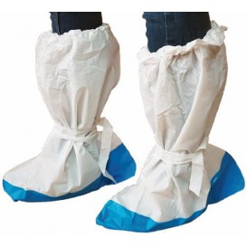 Disposable Plastic Boots Covers PE with Reinforce Sole (10 Units)