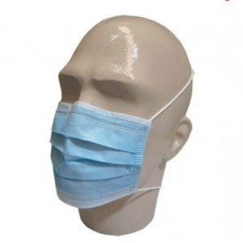 "Disposable Surgical Mask Rectangular Shape ""TST"" Blue 3C (1000 Units)"