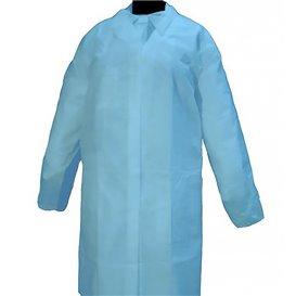 """Disposable Lab Coat """"Cadete"""" """"TST"""" PP Velcro 35gr Blue (100 Units)"""