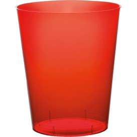 "Plastic Cup PS ""Moon"" Red Clear 350ml (20 Units)"