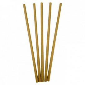 Paper Straw Straight Kraft Ø0,6cm 20cm (6000 Units)
