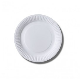 Paper Plate Biocoated White 18 cm (1000 Units)