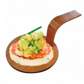 "Bambo Mini Shovel Tray Natural ""Tapas"" Ø5 cm (400 Units)"