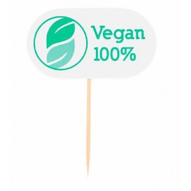 Vegan Food Marker 8 cm (100 Units)