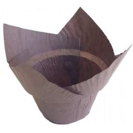 "Cupcake Liner Tulip shape ""Step"" Brown Ø5x6,5/8,5cm (190 Units)"