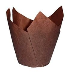 Cupcake Liner Tulip shape Brown Ø5x5/8cm (125 Units)