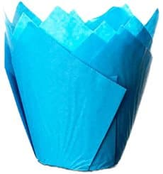 Cupcake Liner Tulip shape Blue Ø5x4,2/7,2cm
