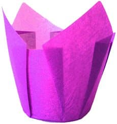 Cupcake Liner Tulip shape Violet Ø5x4,2/7,2cm (2160 Units)
