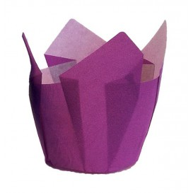 Cupcake Liner Tulip shape Violet Ø5x5/8cm (2000 Units)