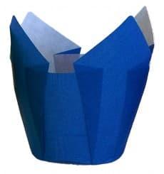 Cupcake Liner Tulip shape Blue Ø5x4,2/7,2cm (135 Units)