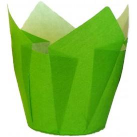 Cupcake Liner Tulip shape Green Ø5x4,2/7,2cm (2160 Units)