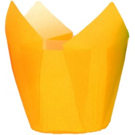Cupcake Liner Tulip shape Yellow Ø5x4,2/7,2cm (2160 Units)