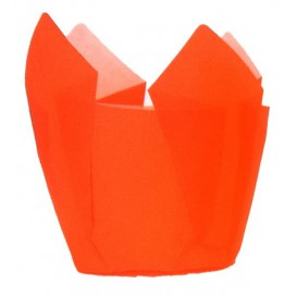 Cupcake Liner Tulip shape Orange Ø5x4,2/7,2cm (2160 Units)