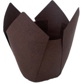 Cupcake Liner Tulip shape Brown Ø5x4,2/7,2cm (135 Units)