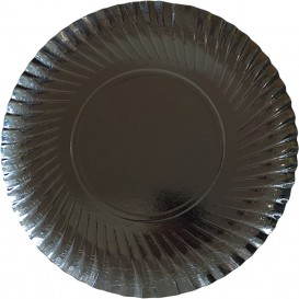 Paper Plate Round Shape Black 25cm (500 Units)