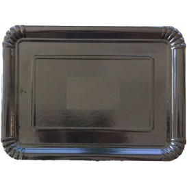Paper Tray Rectangular shape Black 14x21 cm (100 Units)