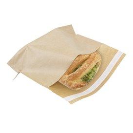 Paper Food Bag Autoseal Kraft 21x17cm (100 Units)
