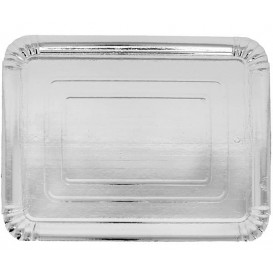 Paper Tray Rectangular shape Silver 14x21 cm (100 Units)