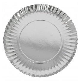 Paper Plate Round Shape Silver 32cm (250 Units)