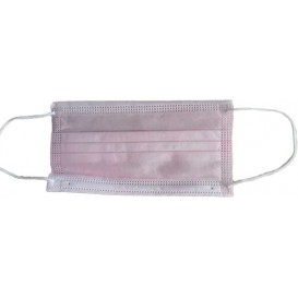 Disposable Surgical Mask Triple Layer with Gum Pink (1000 Units)