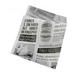"Paper Food Bag Grease-Proof Opened 2L ""News"" 15x16cm (250 Units)"