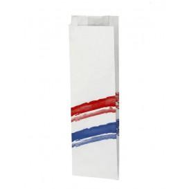 Papieren stokbrood zak Vetvrij met Opening 9+5x32cm (125 eenheden)