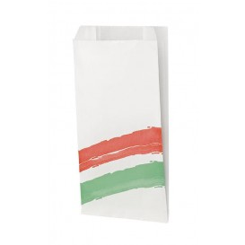 Paper Burger Bag Grease-Proof Design 14+7x27cm (125 Units)