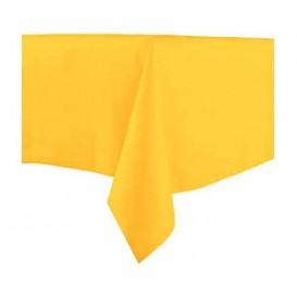 Tablecloth Novotex Non-Woven Yellow 100x100cm (150 Units)