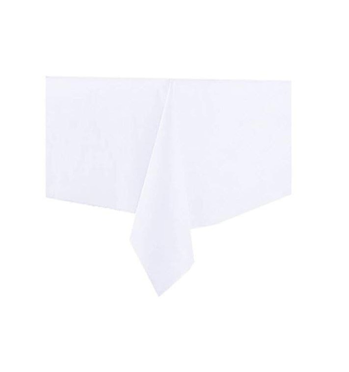 Tablecloth Novotex Non-Woven White 100x100cm (150 Units)