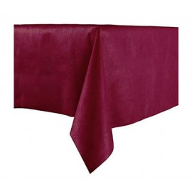 Tablecloth Novotex Non-Woven Burgundy 100x100cm (150 Units)