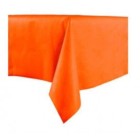 Tablecloth Novotex Non-Woven Orange 100x100cm (150 Units)