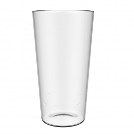 Plastic Pint Glass SAN Reusable 568ml (5 Units)
