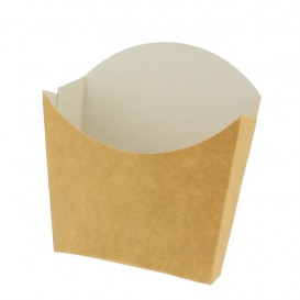 Paper French Fries Scoop Container Kraft Small size 8,2x2,2x9cm (600 Units)
