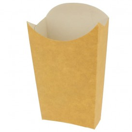 Paper French Fries Scoop Container Kraft Large size 8,2x3,3x14,9cm (25 Units)