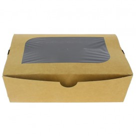 "Paper Take-out Container ""Premium"" 18x12,7x5,5cm 1000ml (25 Units)"