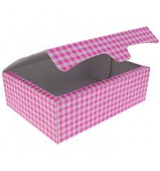 Paper Bakery Box Pink 25,8x18,9x8cm 2Kg (125 Units)