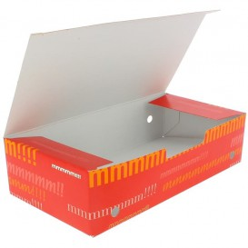 Paper Take-Out Box Large size 2,00x1,00x0,50cm (25 Units)