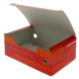 Paper Take-Out Box Small size 1,15x0,72x0,43cm (750 Units)