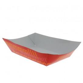 Paper Food Boat Tray 300ml 11,0x7,0x3,5cm (25 Units)