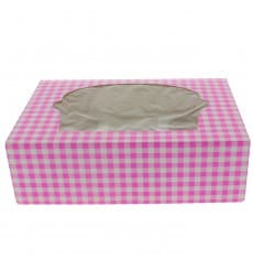 Paper Cupcake Box 6 Slot Pink 24,3x16,5x7,5cm (20 Units)