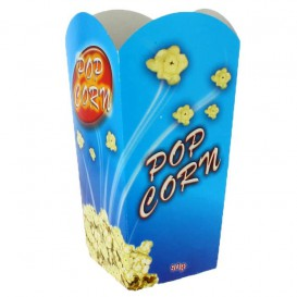 Paper Popcorn Box Medium Size 90gr 7,8x10,5x18cm (350 Units)