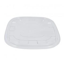 Plastic Lid PET for Bowl Clear 27x27cm (25 Units)