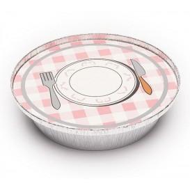 Paper Lid for Foil Pan Round Shape 800ml (200 Units)