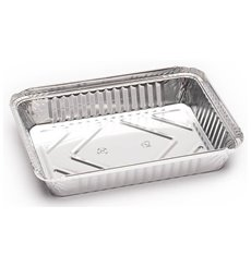 Bandeja Aluminio 3C. 360ml 156x116x35mm (100 Units)