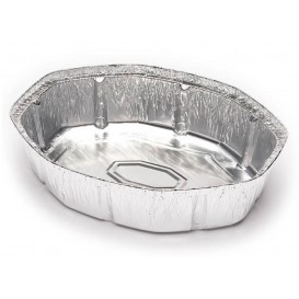 Foil Pan for Roast Chicken Oval Shape 1900ml (125 Units)