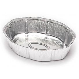 Folie pan voor gebraden kip Ovaal vormig 1900ml (125 eenheden)
