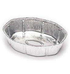 Tapa Cartón Envases Aluminio Oval shape Pollo 2400ml (125 Units)