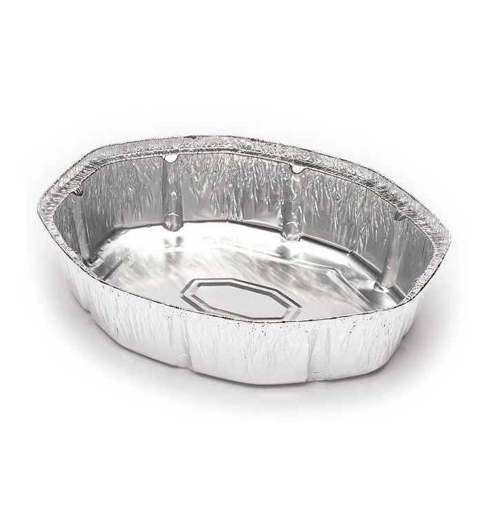 Foil Pan for Roast Chicken Oval Shape 1900ml (500 Units)